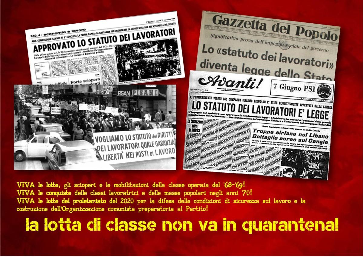 50 anni fa, la legge 300 del 20 maggio1970