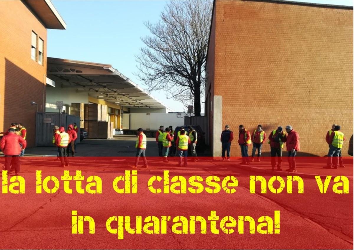 Solidarietà ai lavoratori della Fruttital(Milano)