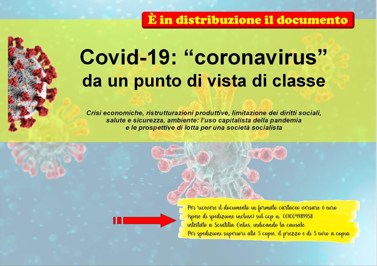 """Covid-19: """"coronavirus"""" da un punto di vista diclasse"""