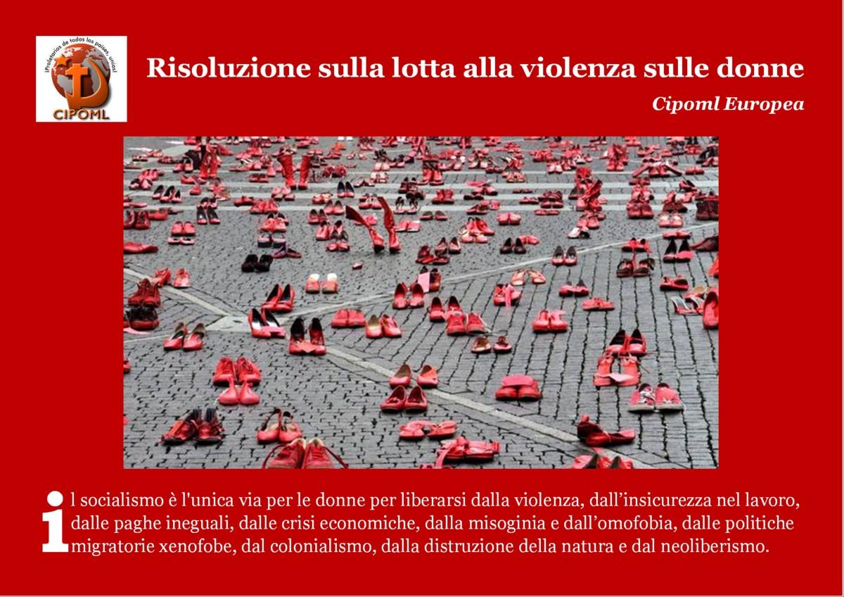 Cipoml Europea – risoluzione sulla lotta alla violenza sulledonne
