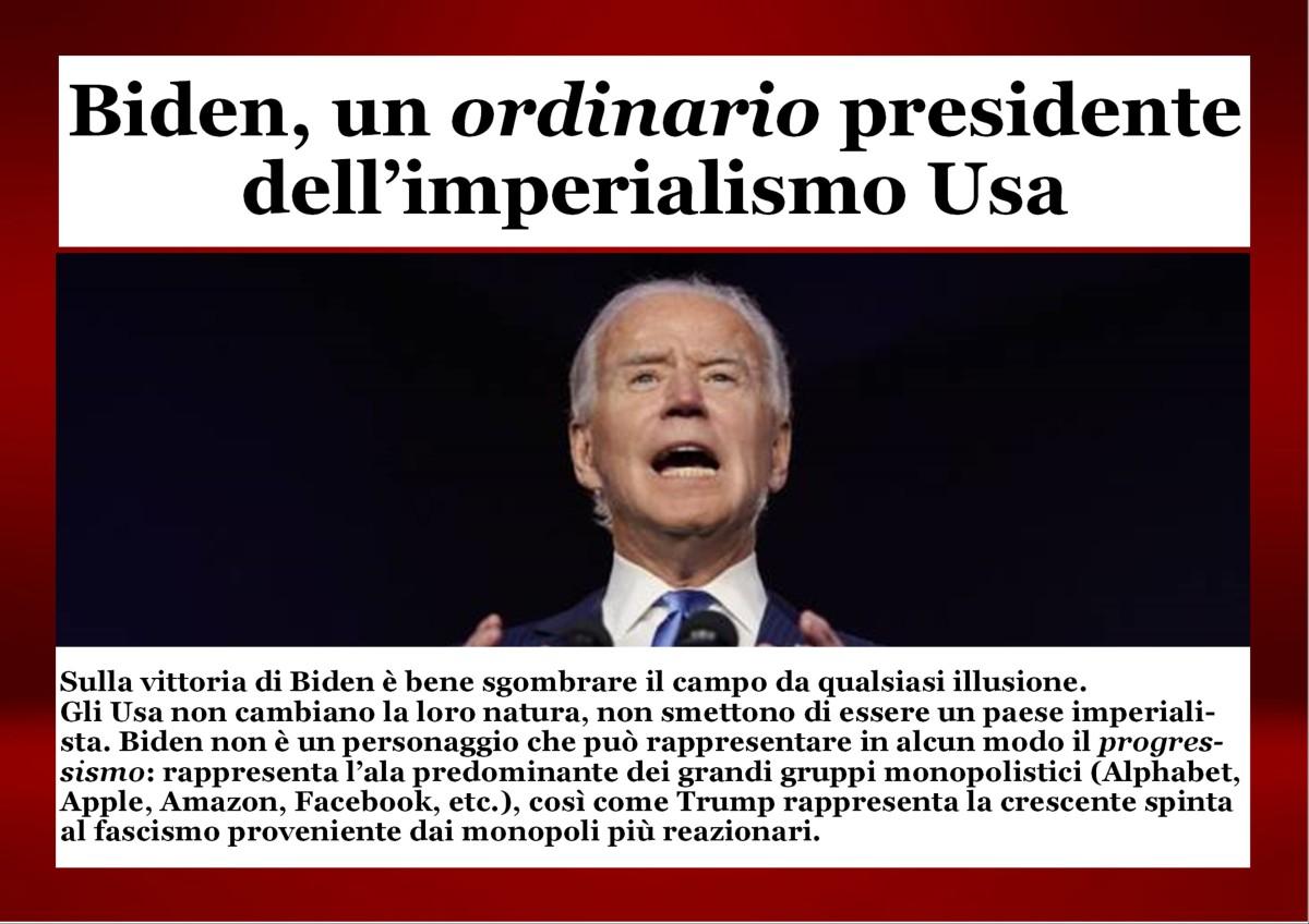 Biden, un ordinario presidente dell'imperialismo Usa