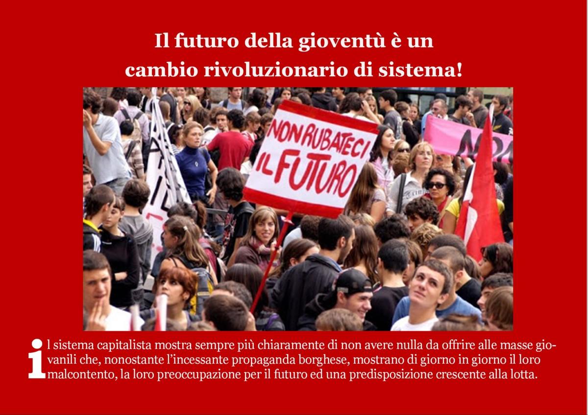Il futuro della gioventù è un cambio rivoluzionario disistema!
