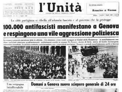 30 giugno 1960 – 30 giugno 2019 Genovaantifascista